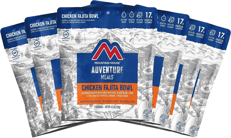 Mountain House Chicken Fajita Bowl   Freeze Dried Backpacking & Camping Food   Survival & Emergency Food   Gluten-Free