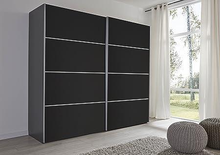 Sliding Robe Schlafzimmer Turin - Armario para Puerta corredera, Color Negro, 202 cm de Ancho, Fabricado en Alemania: Amazon.es: Hogar