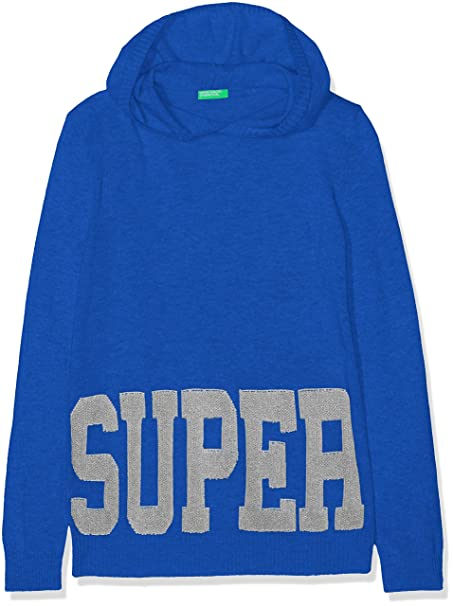 United Colors of Benetton Sweater W/Hood, suéter para Niños, Azul (Bluette