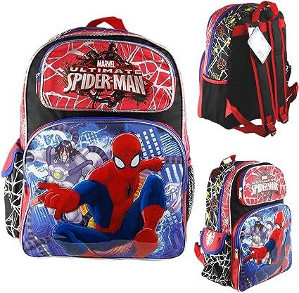 """School Book Bag Backpack Spider Man 16/"""" Large Boys Backpack"""