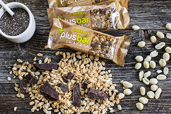 Greens Plusbar Chocolate mantequilla de cacahuete crujiente ...