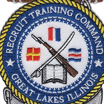 Veteran Owned Business RECRUIT TRAINING COMMAND GREAT LAKES PATCH Sculpted Cutout Color