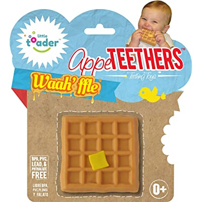 Little Toader Teething Toys, Waah'ffle Appe-Teethers : Baby