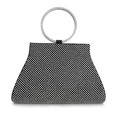 Amazon.com  Crystal Clutch for Women Wrist Evening Bag  Shoes d00129cbc9
