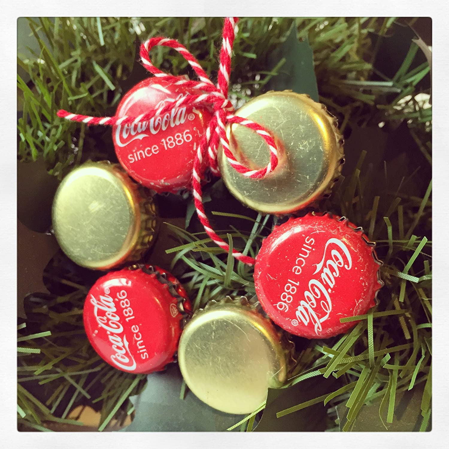 Bottle Cap Christmas Tree Decoration Coca Cola since 1886 and