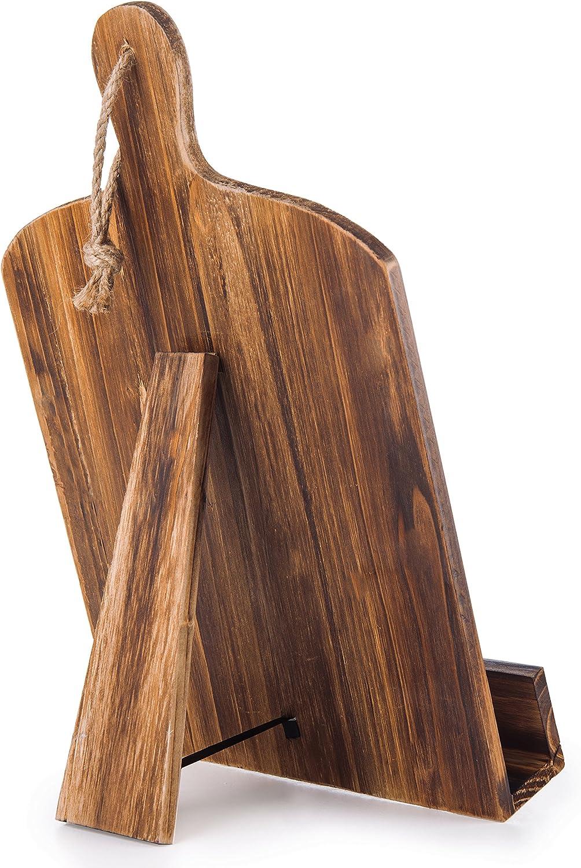 color marr/ón Tabla de cortar de madera de estilo soporte de recetas libro de recetas iPad Tablet soporte con funci/ón atril