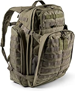 5.11 Tactical Backpack ' Rush 72 2.0 ' Military Molle Pack, CCW and Laptop Compartment, 55 Liter, Large, Style 56565 ' Ranger Green
