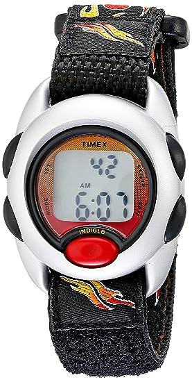b6948fdf0 Timex Boys T78751 Time Machines Digital Flames Fast Wrap Velcro Strap Watch