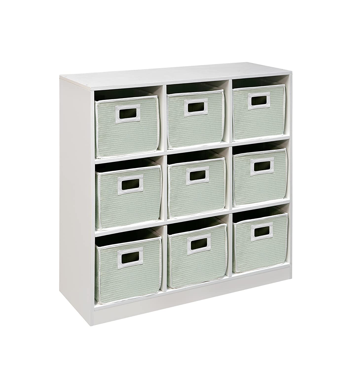 Amazon.com : Badger Basket 3 By 3 Storage Unit, White : Storage And  Organization Products : Baby