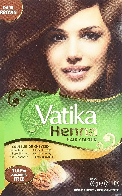 Vatika Henna Hair Colours - Henna Based - 60 Gram (Dark Brown) by Dabur
