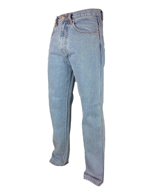 Inside Leg 27 29 Big Size 42-56 Waist Hard Wearing Tough Mens Work Jeans 33 Blue Stone wash Black Bleach Wash Large Extra Plus 31