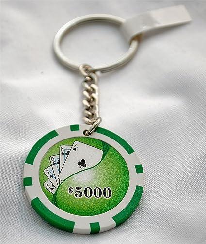 Royal Flush, Clubes las Vegas $5000 verde Casino Poker Chip ...