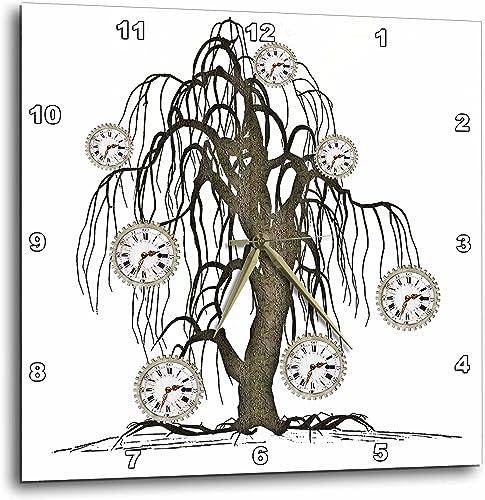 3dRose Steampunk Weeping Tree Design – Wall Clock, 15 by 15-Inch DPP_102676_3