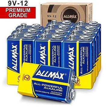 Amazon.com: ALLMAX - Pilas alcalinas de 9 V, ultra duraderas ...