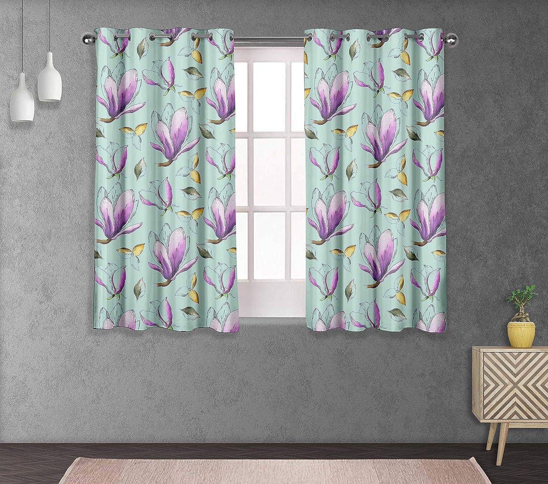 S4sassy Floral Bedroom short /& long Window Treatment Eyelet Curtains BP-502G