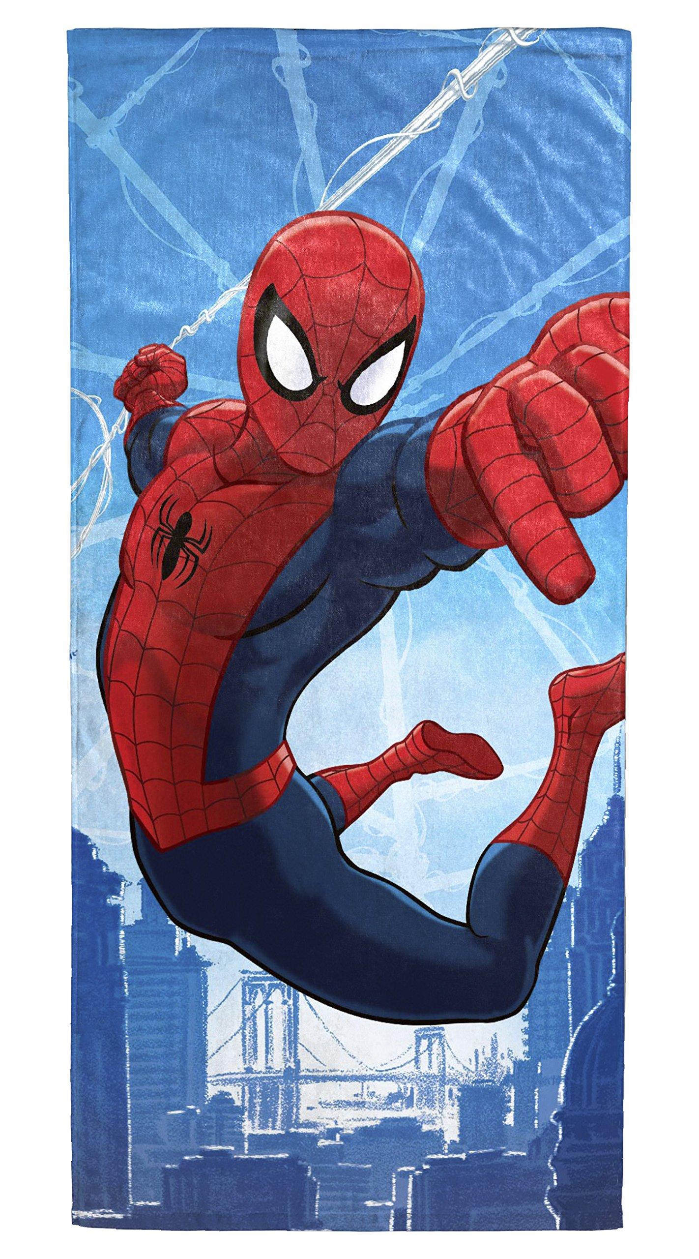 Marvel Spiderman Dawn Cotton 28'' x 58'' Beach/Bath/Pool Towel