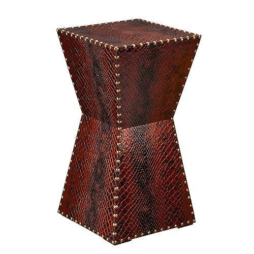 Southern Enterprises Warrington Faux Leather Accent Table