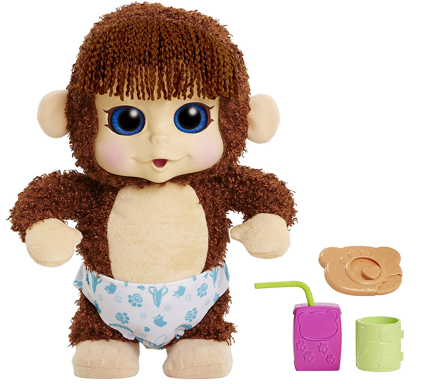 fd825add6c1b Amazon.com  Animal Babies Feature Jumping Lil Monkeys Boy Plush ...