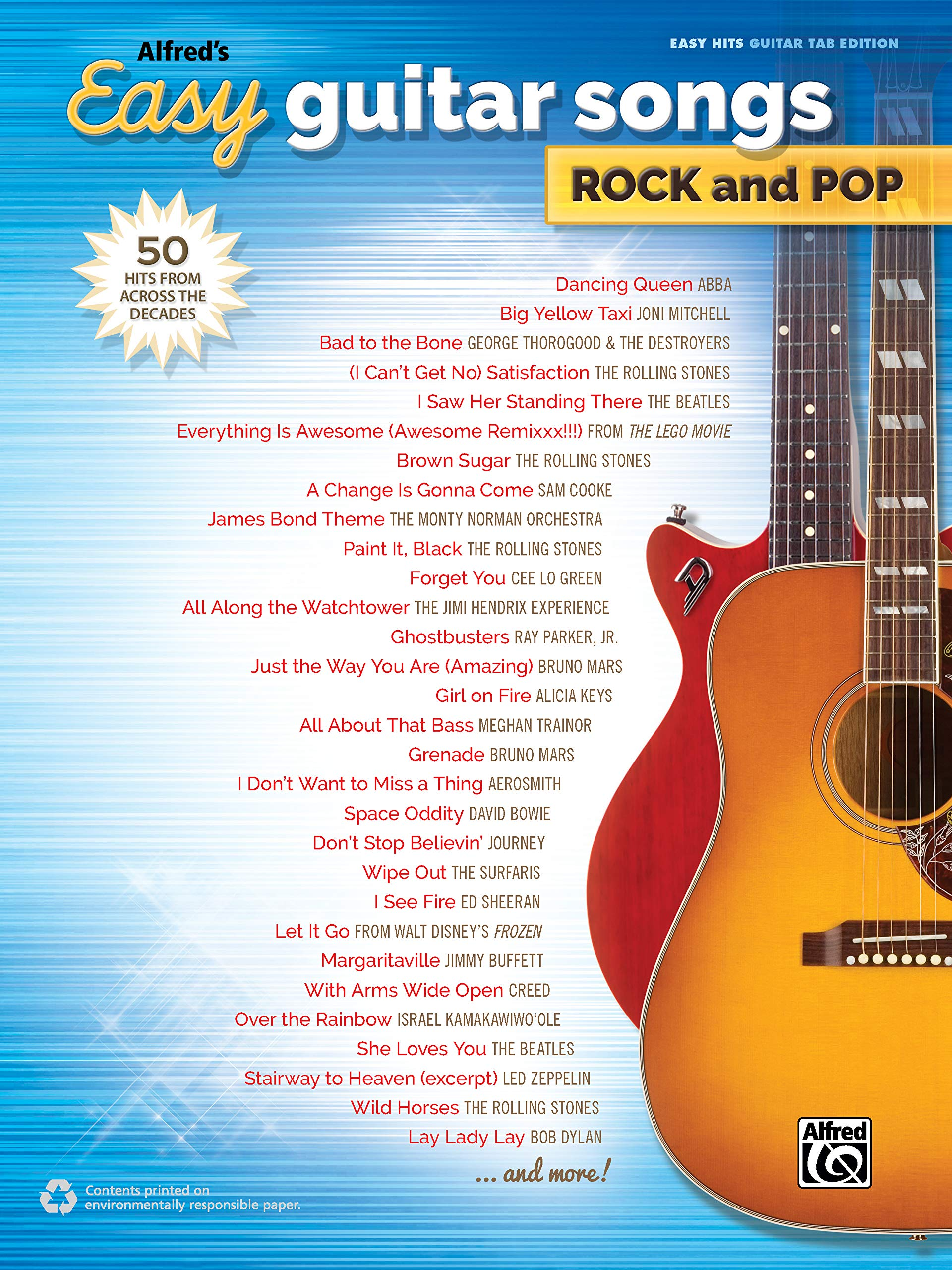 Alfreds Easy Guitar Songs -- Rock & Pop: 50 Hits from Across the ...