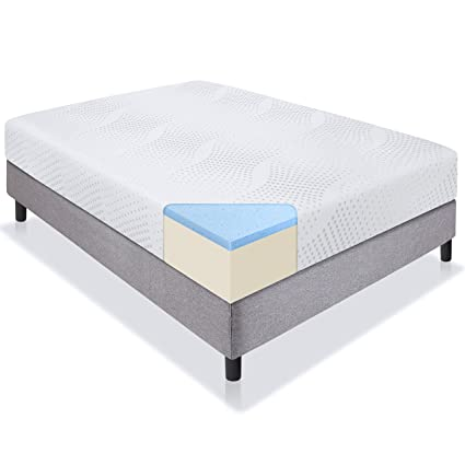 "Best Choice Products 10"" Dual Layered Gel Memory Foam Mattress Full CertiPUR US - best memory foam bed"