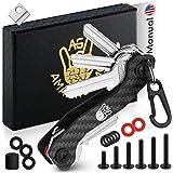 AmazinGizmo Smart Key Holder & Key Organizer Keychain - House & Car Compact Black EDC Key Chain with Pocket Clip…