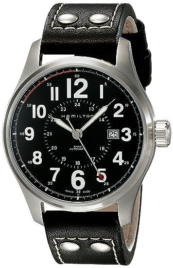 Hamilton Reloj Analogico para Hombre de Automático con Correa en Cuero H70615733