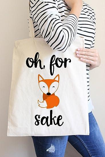 Amazon.com: Oh para Fox Sake bolsa Bolsa en color natural