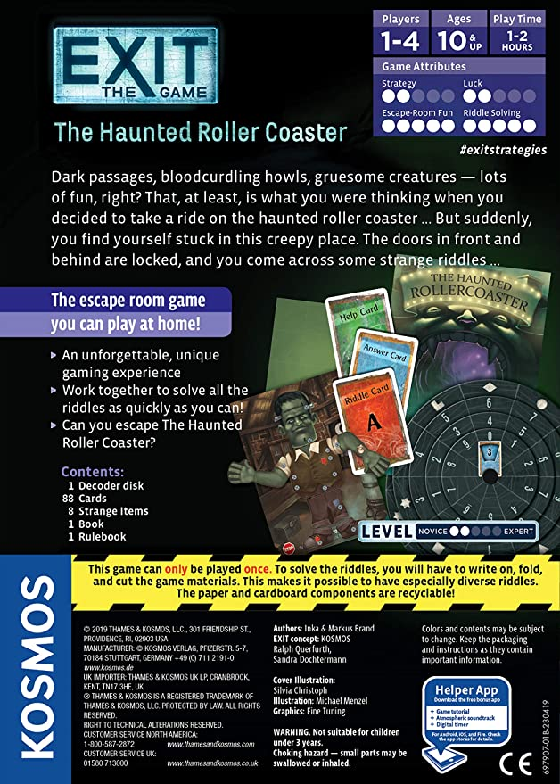 Thames & Kosmos 697907 Exit: The Haunted Roller Coaster, Yes