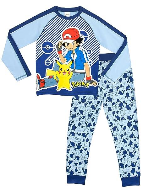 Pokemon - Pijama para Niños - Ash y Pikachu - 12 - 13 Años