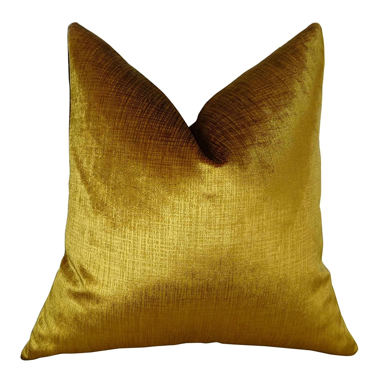 (nAcA A|.Double sided 41cm x 41cm) - Gold Throw Pillow - Luxury Designer Decorative Gold Throw Pillow - Metallic Gold Pillow - Modern Gold Accent Pillow - 11249 N....Double Sided 16\  B00S2983CS
