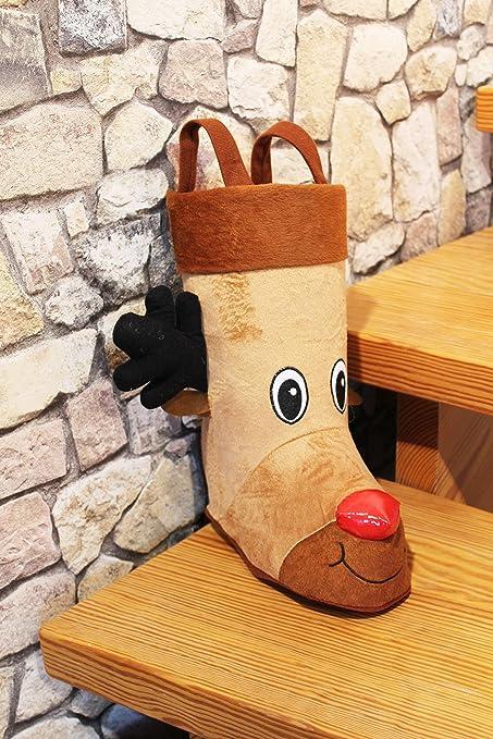 Papá Noel botas con asa/Calcetines de Papá Noel/Botas de Navidad/Navidad