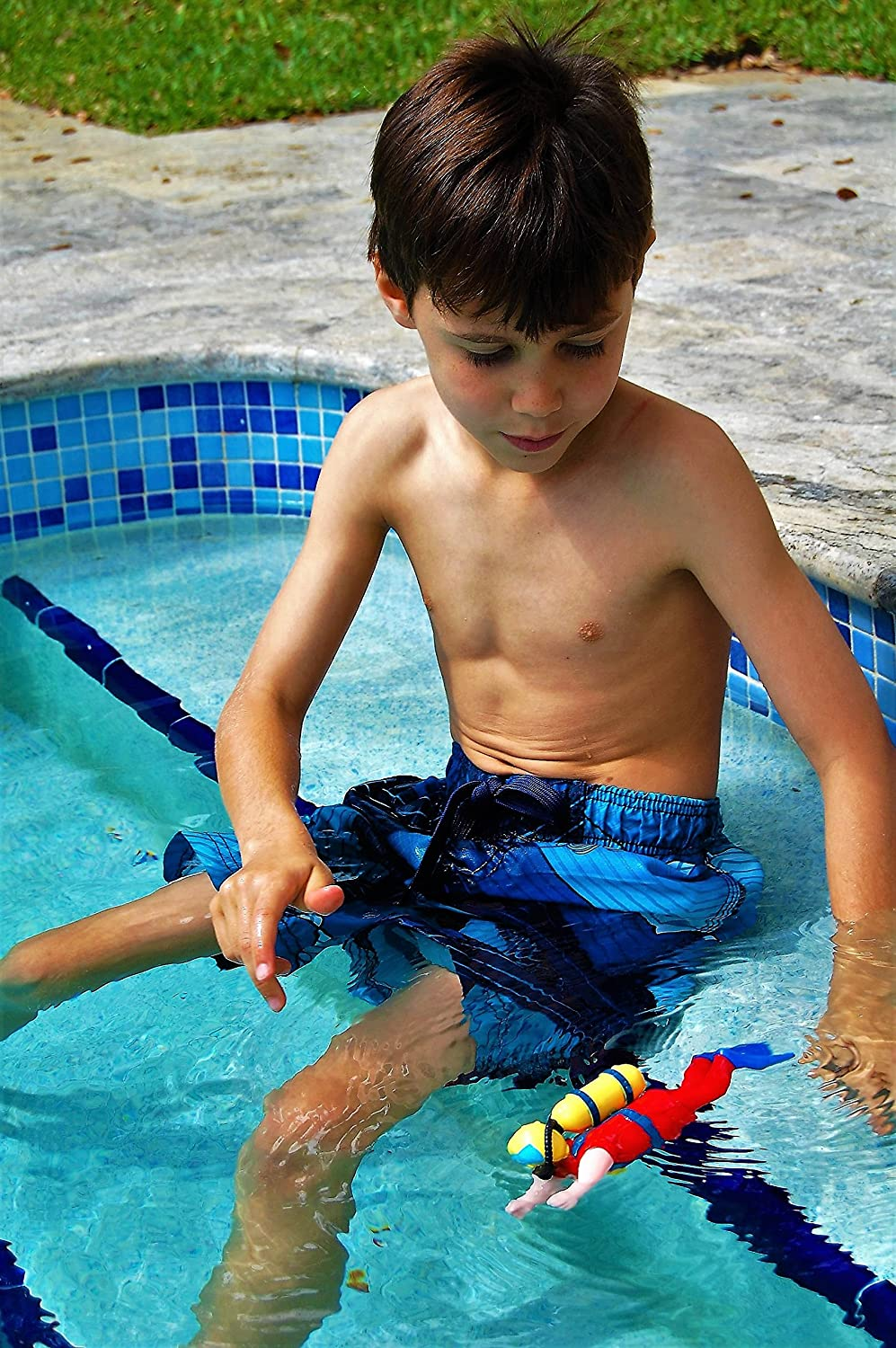 Bath tub /& Pool Toys and one Bouncy Ball by JA-RU Windup Boat and Diver JARU A3