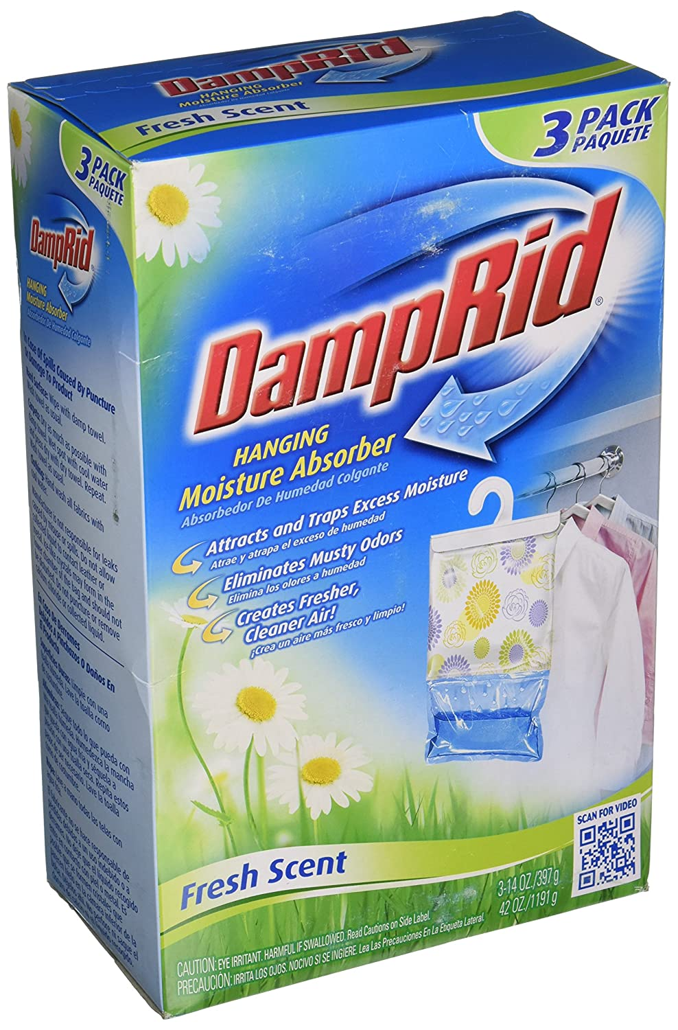 Amazon.com: DampRid Hanging Moisture Absorber, Fresh Scent, 14 Oz Bags, 3  Ea: DAMP RID: Home U0026 Kitchen