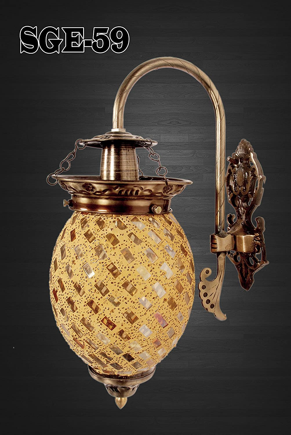 SGE Retro Wall Light for Home Cafe Wall Lamp Mughal Style