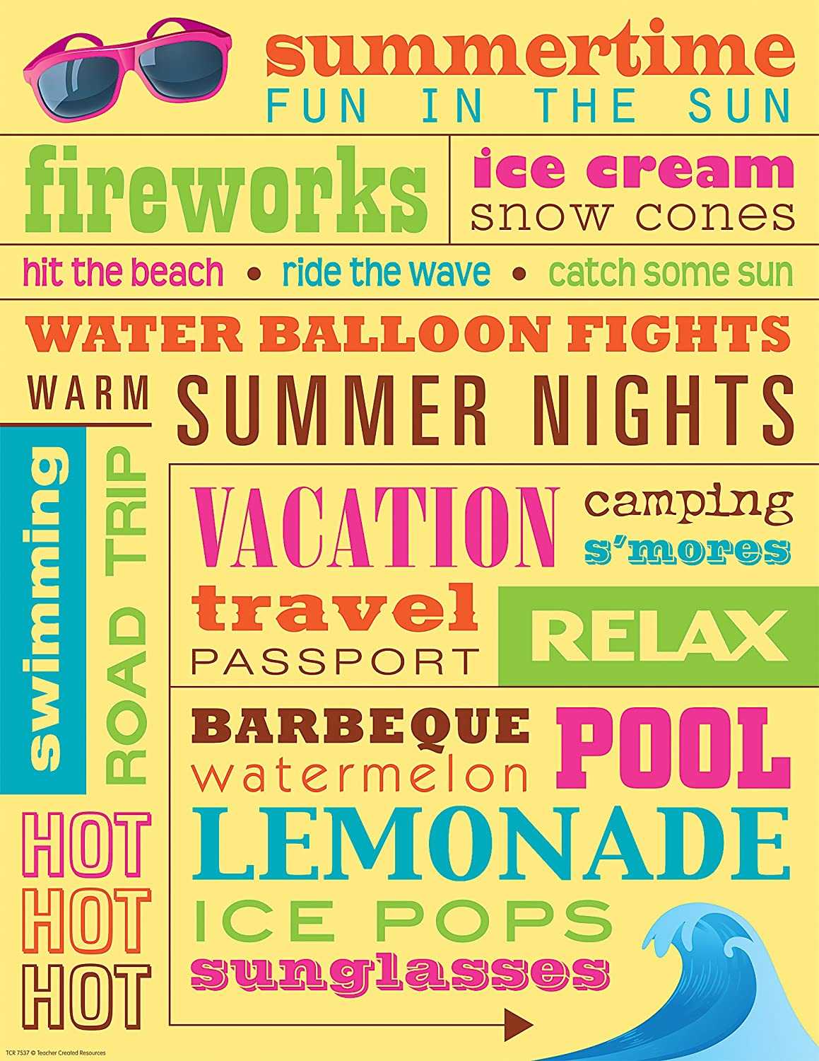 Teacher Created Resources Summer Subway Art Chart 7537 Amazon In Office Products