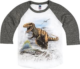 product image for Shirts That Go Little Boys' T-Rex & Dimetrodon Dino Raglan T-Shirt