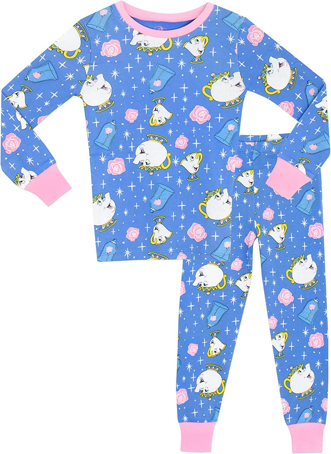 Beauty /& The Beast Girls Mrs Pots and Chip Pajamas