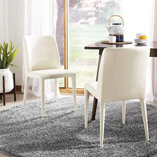 Safavieh Home Collection Garretson Buttercream 34.4-inch Side Chair Set of 2