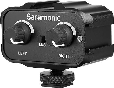 Saramonic SR-AX100 - Micrófono mezclador de audio para cámaras ...
