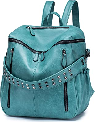 Roulens Women PU Leather Backpack