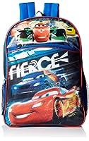Disney Little Boys Cars 16 Inch Backpack, Black, One Size