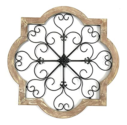 Your Home And Beyond Metal Scroll Alexis Wall Decor Distressed Finish Easy Hang Decorative Wall Art