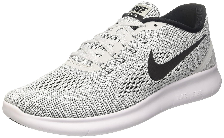 NIKE Women's Free RN Running Shoes B014ECAPAY 10.5 B(M) US|White / Black - Pure Platinum
