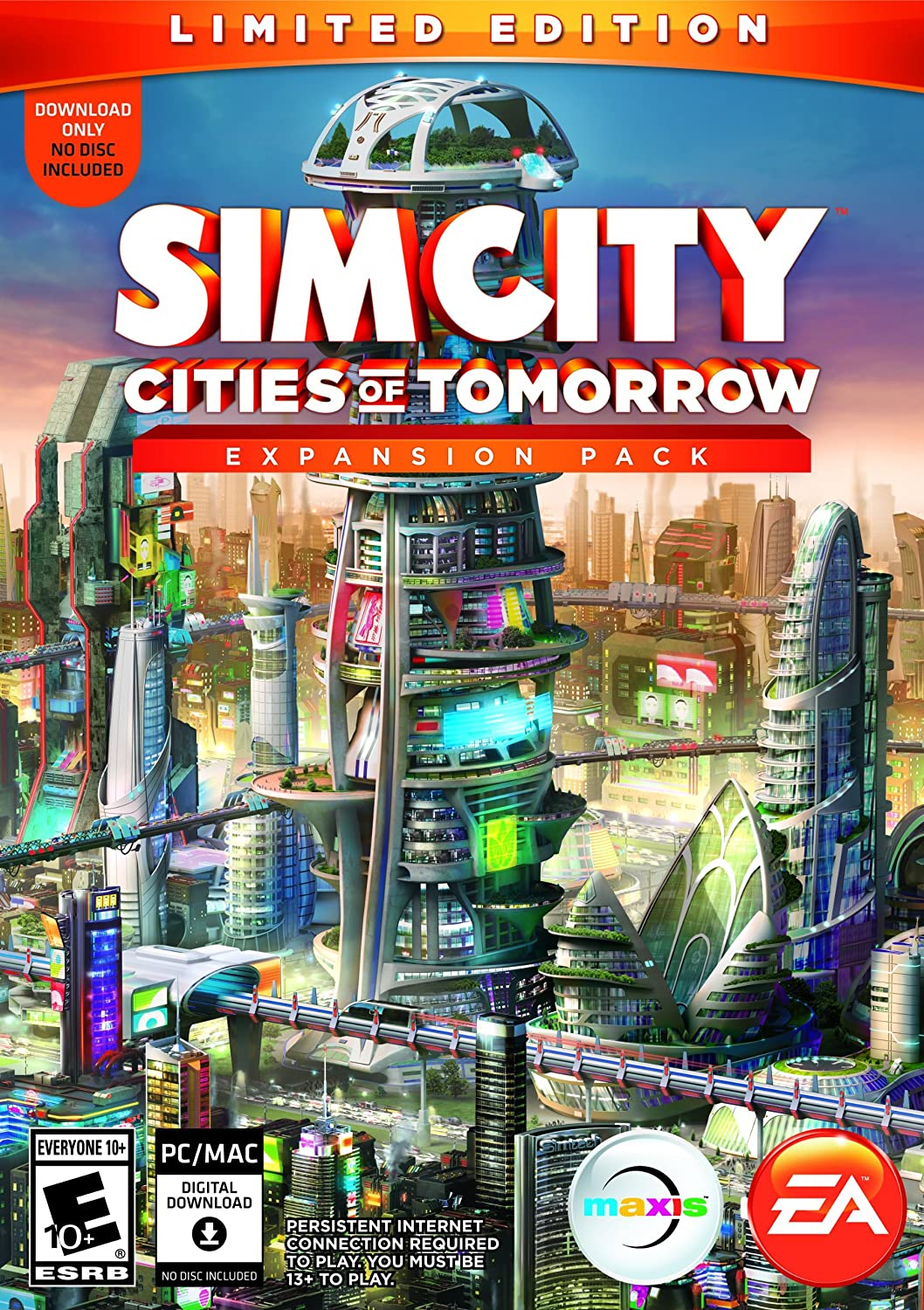 Simcity cities of tomorrow limited edition pc dvd amazon co uk pc video games