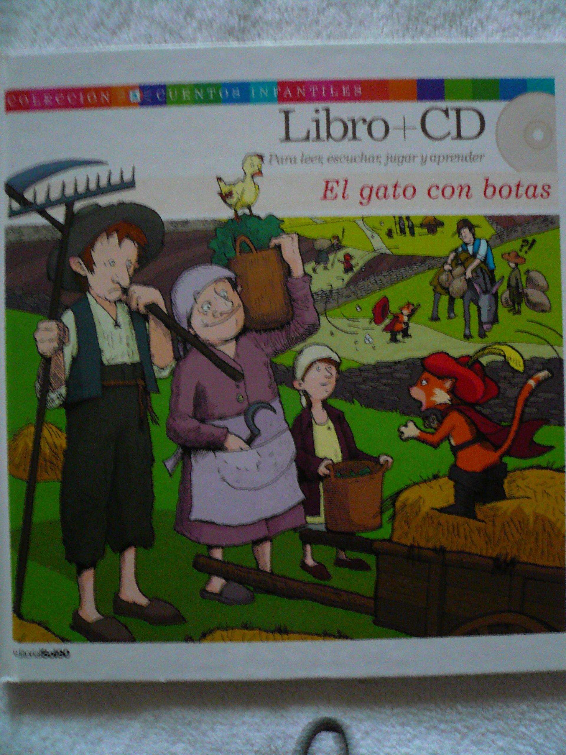 El Gato Con Botas Coleccion Cuentos Infantiles Libro + Cd ...