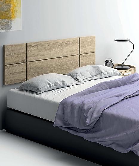 Cabezal cama de matrimonio de gran grosor 32MM, color cambrian con herrajes para colgar incluidos