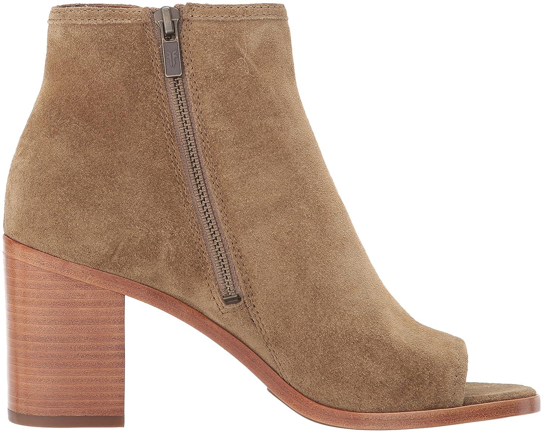 FRYE Women's Danica Peep Bootie Boot B01MXYOHXB 7 B(M) US|Sand Soft Oiled Suede