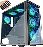 MUSETEX Phantom Black ATX Mid-Tower Case with USB 3.0 and 6