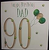 Happy Birthday Card - Dad 90th Birthday - Handmade Card