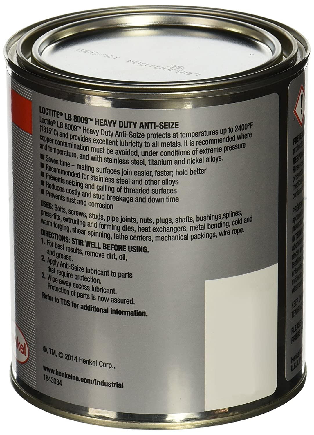 Amazon.com: Loctite 51607 Gray LB 8009 Heavy Duty Anti-Seize ...